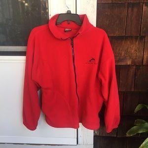 Jackets & Blazers - vintage red zip up